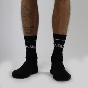 Casba Crew Black Socks Uomo